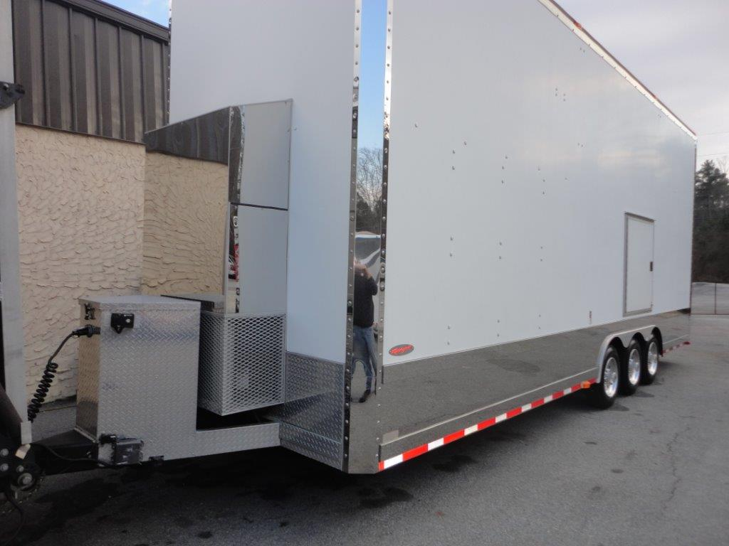 Cabinets For Cargo Trailers Racing Transporters For Sale Race Trailer Sales